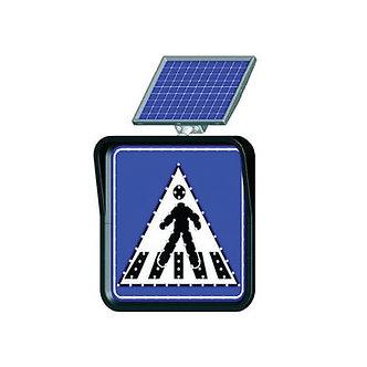Pedestrian Crossing / Solar Powered Flashing LED Edge Lit Signs