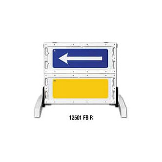 Two Panel, Foldable Directional Barricade