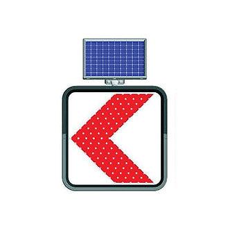 Dangerous Bend / Solar Powered Flashing LED Edge Lit Signs