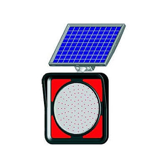 Stop Light / Solar Powered Flashing LED Edge Lit Signs