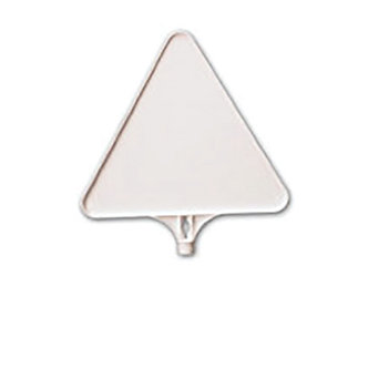 Large Triangular Sign Board 15.35″ H