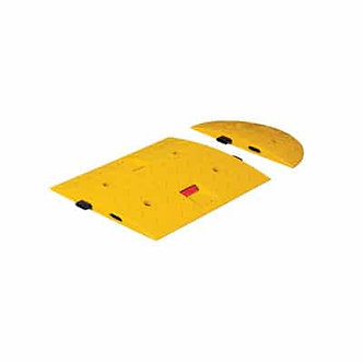 Side Cover of Speed Bump Size A/Red-White Reflective Lens 15.74″x7.87″x1.57″