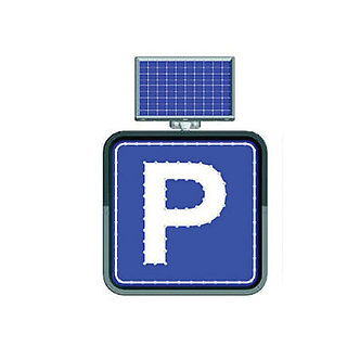 Parking / Solar Powered Flashing LED Edge Lit Signs