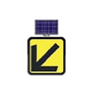 Keep Left Directional (Large) / Solar Powered Flashing LED Edge Lit Sign