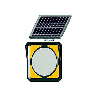 Yield Light / Solar Powered Flashing LED Edge Lit Signs