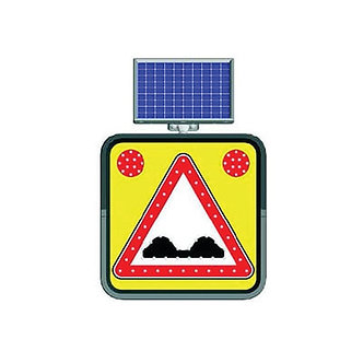 Uneven Road Warning / Solar Powered Flashing LED Edge Lit Sign