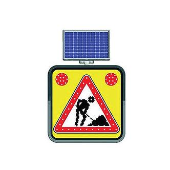 Under Construction / Solar Powered Flashing LED Edge Lit Signs