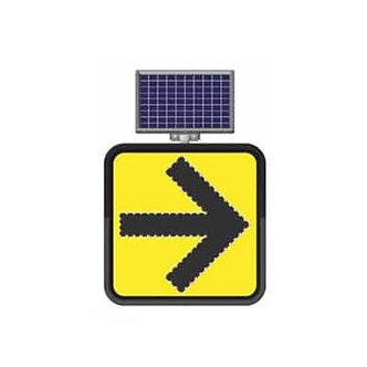 Right Turn  / Solar Powered Flashing LED Edge Lit