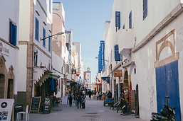 jewish heritage street view in essaouira mogador in morocco