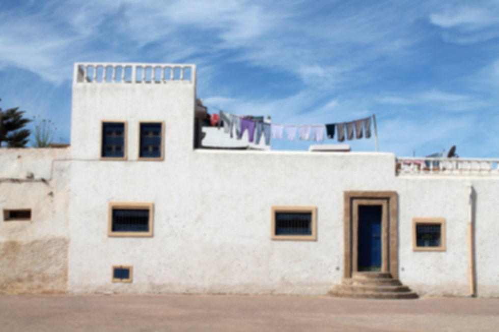 traditional architecture house in rabat capital of morocco