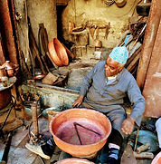 handcraft master in Fes making home deco