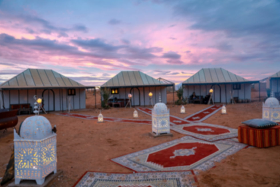 private camp in the sahara desert suth of morocco