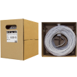 Cat5e Ethernet Cable, Solid Copper, Gray, Pullbox 500ft