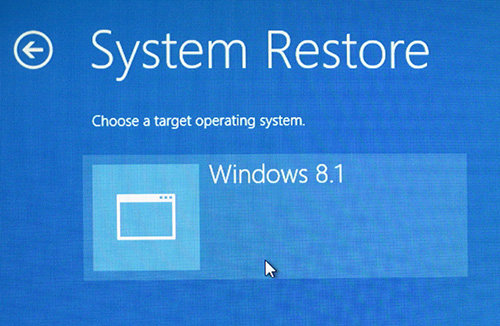 System Restore (NO DATA RECOVERY)