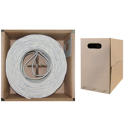 500ft Bulk Cat6 White Ethernet Cable, Solid