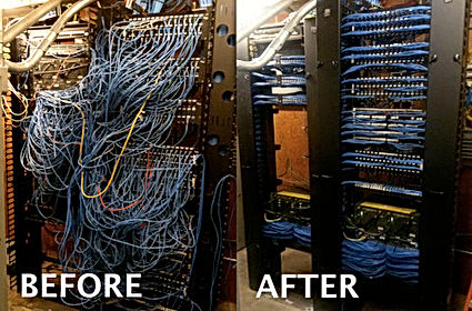 Before and After Cabling