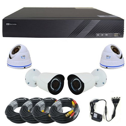 Complete Sibell 4 Channel 1MP / 720p HD-TVI Survei