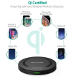 RAVPOWER RP-PC014 10W Qi Wireless Fast Charging Pad w/Micro USB Cable (Black)