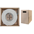 500ft Bulk Cat6 White Ethernet Cable, Solid, UTP, Pullbox