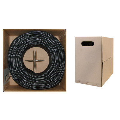 1000ft Bulk Cat6 Black Ethernet Cable, Stranded, U