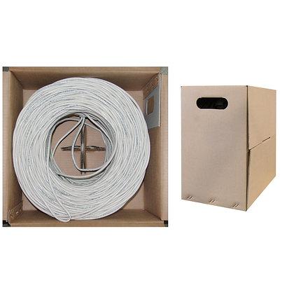 500ft Bulk Cat6 White Ethernet Cable, Solid, UTP,