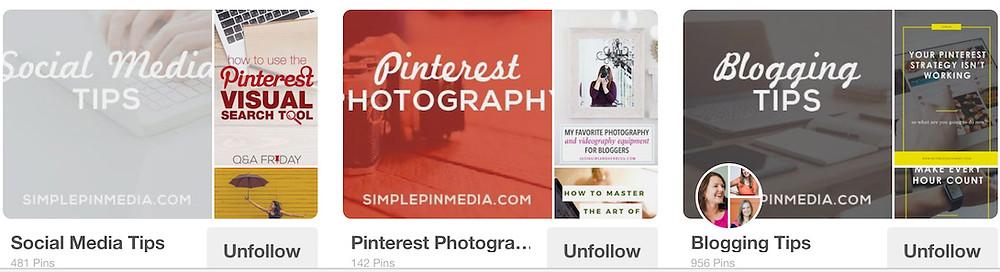 Categorizing Pinterest Boards