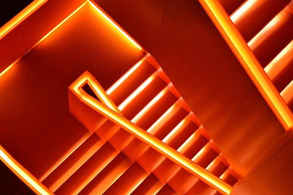 Escadas de néon