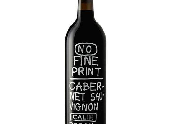 No Fine Print Cabernet Sauvignon 17