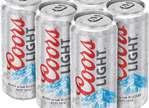 Coors Light 6pk Cans