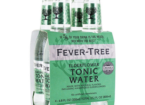 Fever Tree Elderflower Tonic Water 4pk