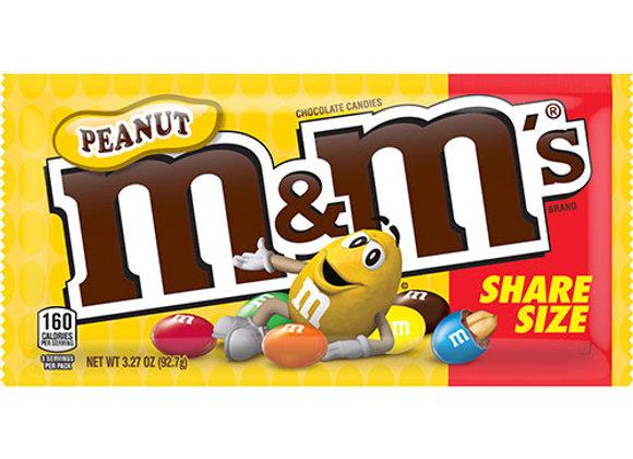 M&M Peanuts Share Size