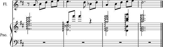 フルートとピアノのための組曲「故郷の香」
