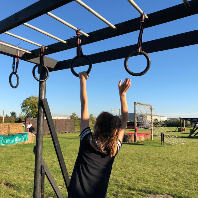 hanging rings obstacle course