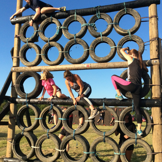 tyre wall climb obstacle course
