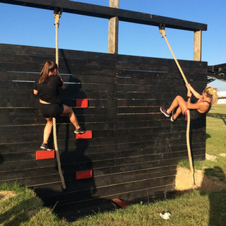 climbing wall rope obstacle