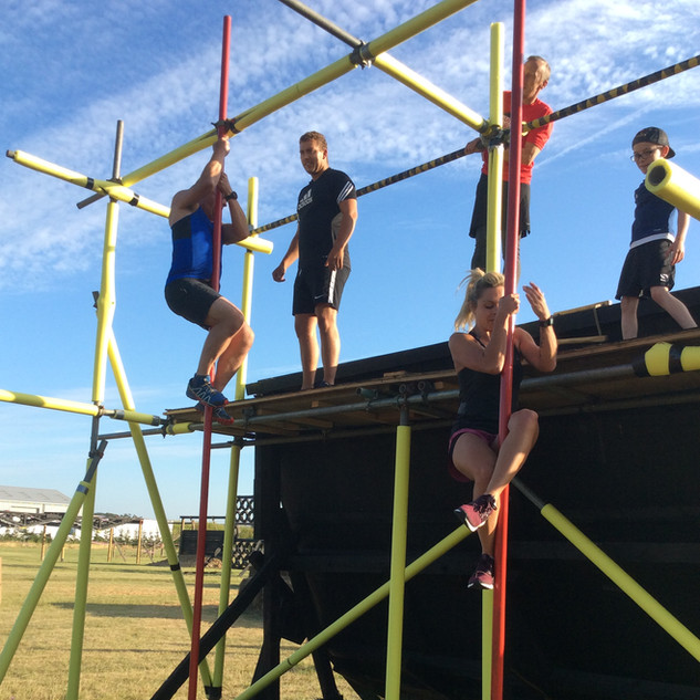 firemans pole obstacle course