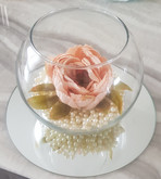 Fish Bowl Vase with Pearls