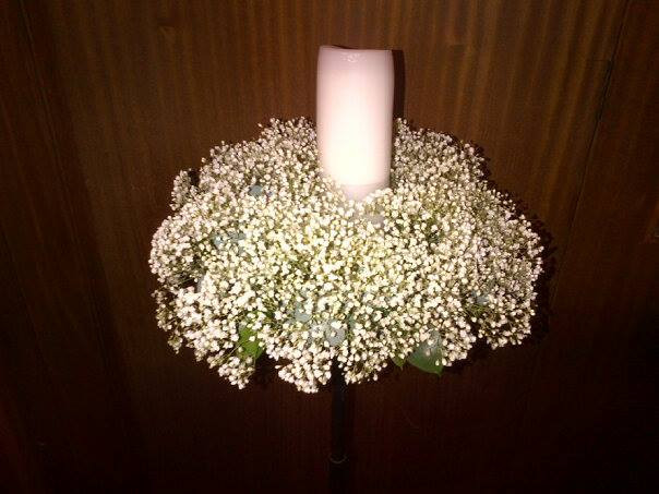Baby's Breath Candle Display