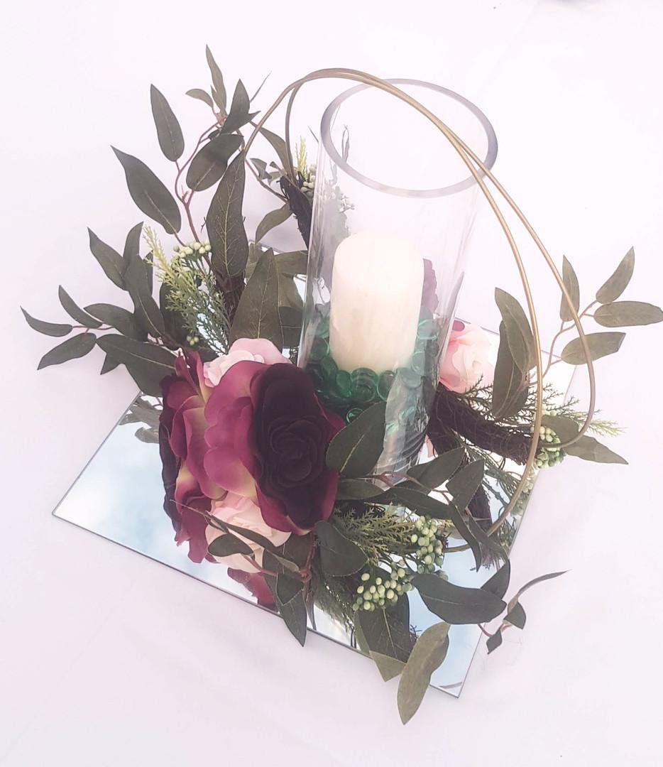 Tubular Vase with Flower Rings