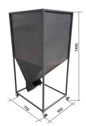 Бункер на колесах для топливных пеллет 300л