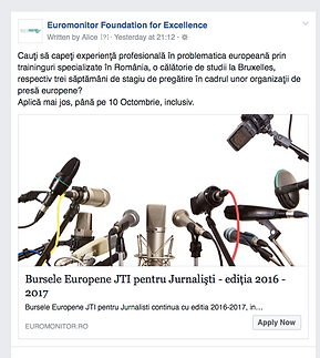 Euromonitor Foundation for Excellence - European Scholarships for Journalists
