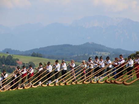 Alphorn Serenade begeistert die Allgäu Besucher