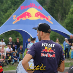 Fahrerlager beim Red Bull Pumptrack