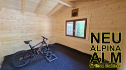 NEU im Alpina Füssen: Alpina Alm Bikehütte für Ihren Drahtesel