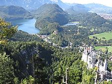 Königswinkel Schloss Neuschwanstein Alpsee Schloss Hohenschwangau Naturerlebnis Wanderurlaub