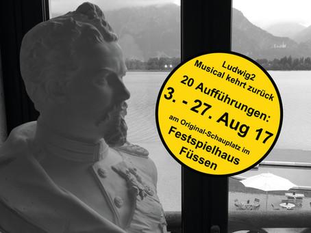 Ludwig2 – Musical kehrt in das Festspielhaus in Füssen zurück