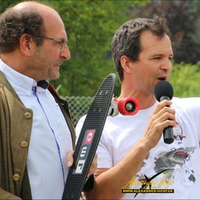 Event Organisator Thomas Scheibel und Füssens 1. BGM Paul Iacob