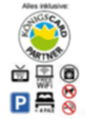 Königscard SMART TV Parkplatz Ferienwohnung Waschmaschine Trockner Füssen Free Wifi W-Lan Sonnen-Appartement Alpina Allgäu Serviceleistungen