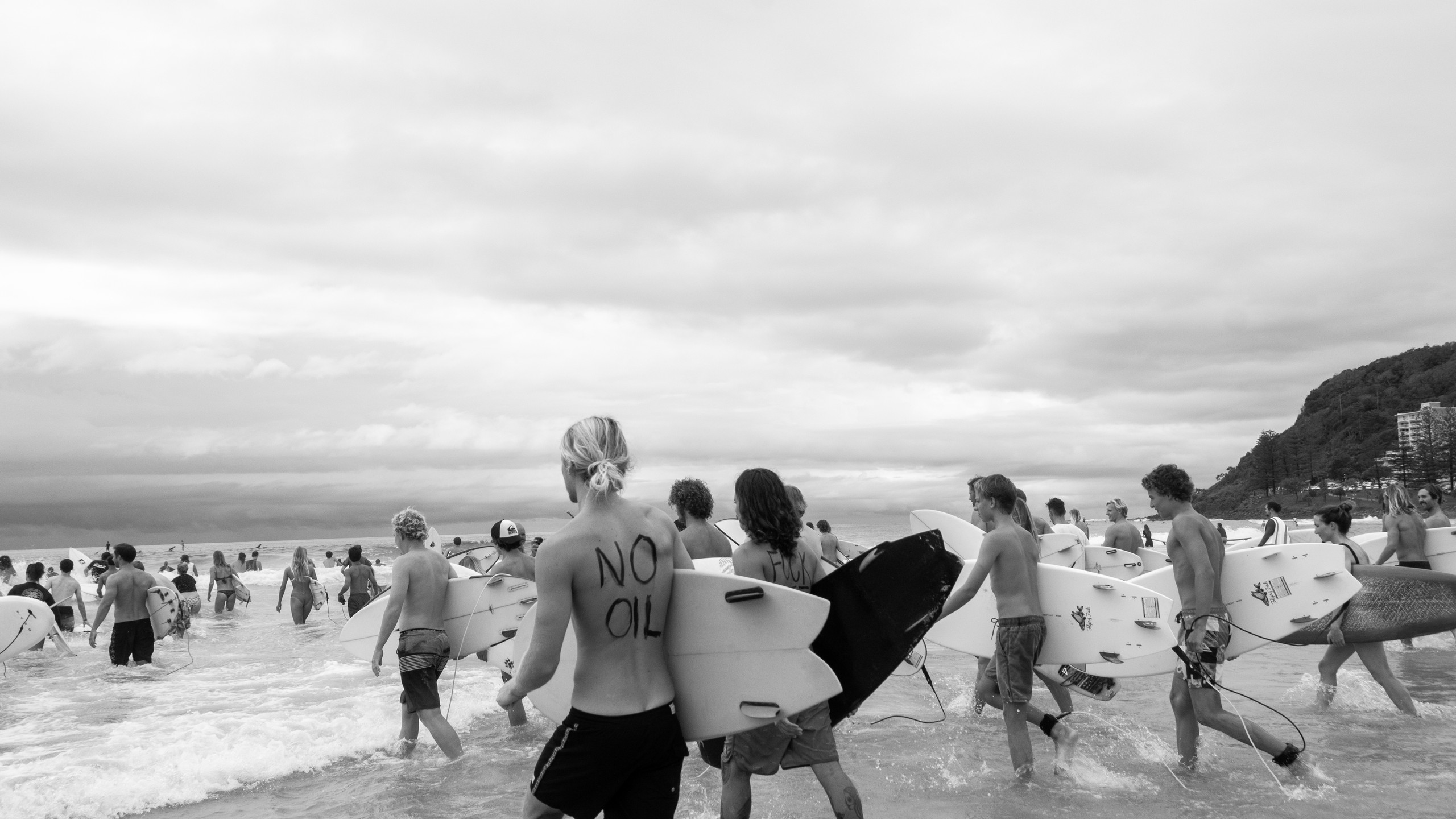 Gold Coast Ocean protectors, protesting against oil drilling in the Great Australian Bight.