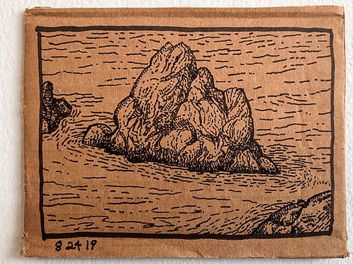 Lone Coastal Rock